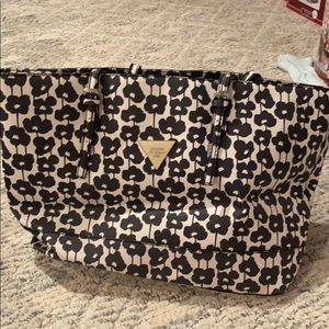 Guess floral tote purse